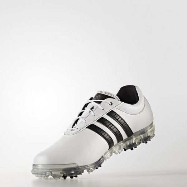 Adidas Adipure Flex Wide Homme Footwear White/Core Black/Silver Metallic Golf Chaussures NO: F33456