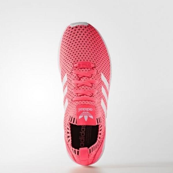 Adidas Zx Flux Primeknit Femme Turbo/Framas Light Blue/Core Black Originals Chaussures NO: BA7375