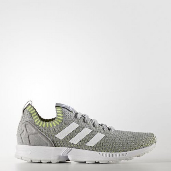Adidas Zx Flux Primeknit Homme Mid Grey/Footwear W...