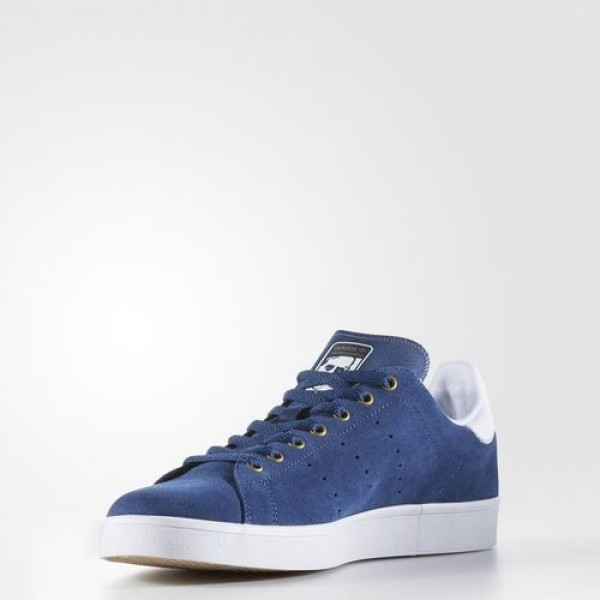 Adidas Stan Smith Vulc Homme Mystery Blue/Footwear White/Matte Gold Originals Chaussures NO: BB8744