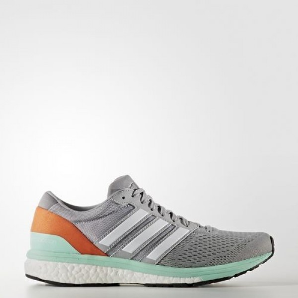 Adidas Adizero Boston 6 Femme Mid Grey/Footwear Wh...