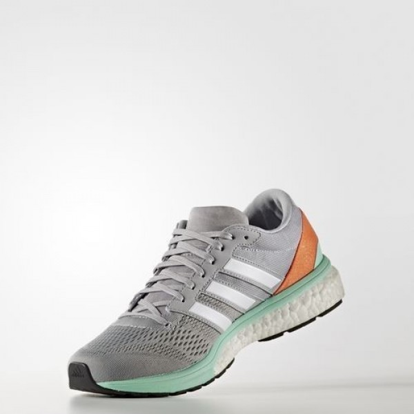 Adidas Adizero Boston 6 Femme Mid Grey/Footwear White/Easy Orange Running Chaussures NO: BB1729