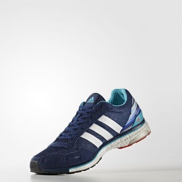 Adidas Adizero Adios 3 Homme Mystery Blue/Footwear White/Energy Blue Running Chaussures NO: BB1699