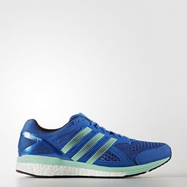 Adidas Adizero Tempo 8 Homme Blue/Night Navy/Easy Green Running Chaussures NO: BB4357